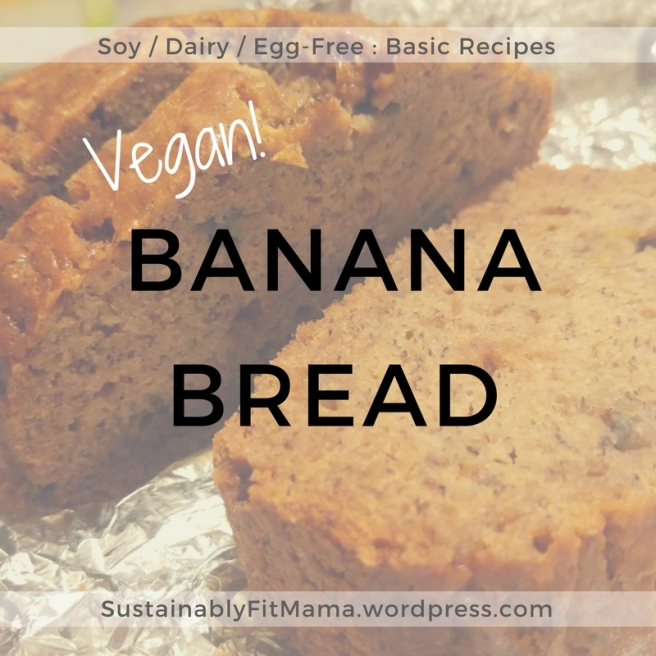 SustainablyFitMama.wordpress.com Vegan Banana Bread
